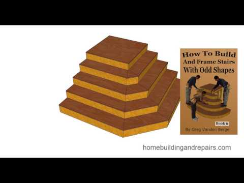 How to Build and Frame Stairs with Odd Shapes – Book Example 2