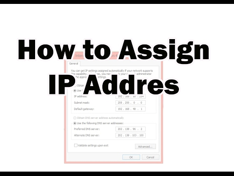How to Assign IP Address windows 7/8.1/10