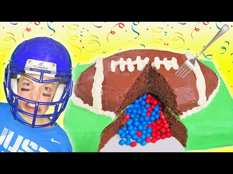 Super Bowl Party Surprise Football Cake | Kids Cooking Crafts