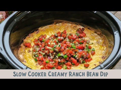 Slow Cooker Creamy Ranch Bean Dip