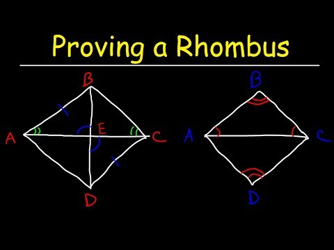 Two Column Proofs - Proving a Parallelogram Is a Rhombus - Geometry