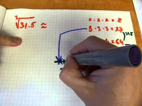 Square & cube root estimation