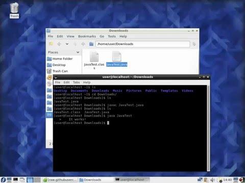 Installing JDK Fedora - 02 - Testing Java Compiler