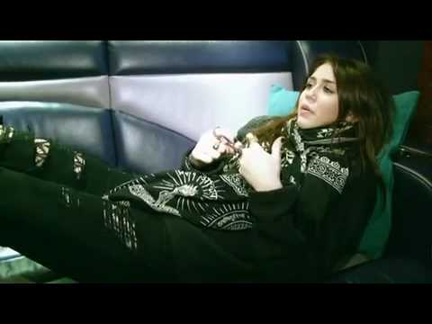 Miley Cyrus - Live at the O2 - Tour Bus, Bad Romance and Mitchel Musso