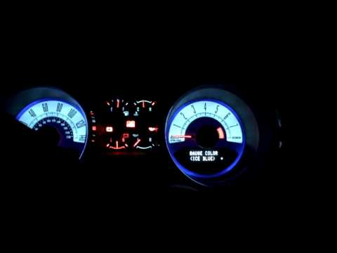 2010 Mustang MyColor Gauges