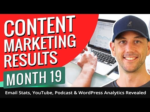 Content Marketing Results Month 19 - Email Stats, YouTube, Podcast & WordPress Analytics Revealed