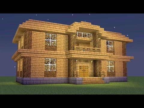 Minecraft - How to build a wooden mansion