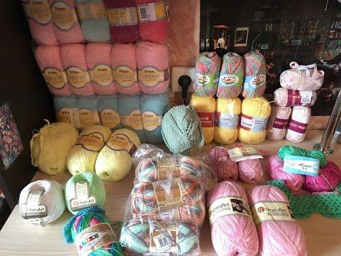 Летняя нора заполнена! Yarn art Cotonella, Begonia, Alize Diva №5550, Lanoso Baby cotton
