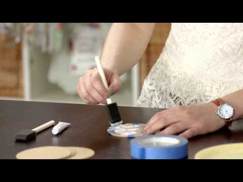 Crafternoon - Stenciled Cork Coasters