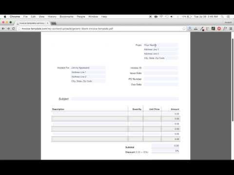 How to Make an Invoice EASY | Excel | Word | PDF