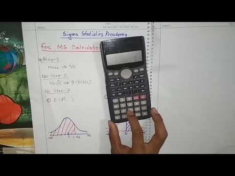 How to find probabilities of Normal Distribution by calculator
