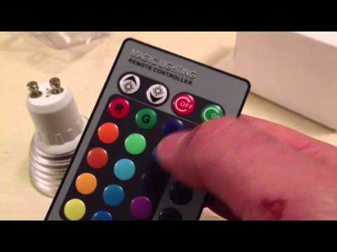 Remote Controlled Colour Changing LED Spot Review