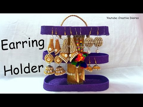 DIY jewellery Holder I Earring organiser I Best out of waste I Creative Diaries
