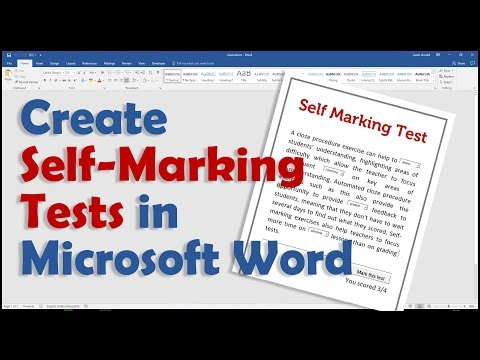 Create A Self Marking Test In Microsoft Word