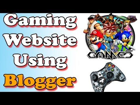 How To Create Online Gaming Website Using Blogger Make Money Online Urdu Hindi 2018