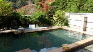 京都散策 鞍馬温泉峰麓湯(露天風呂) Kyoto pommel horse Onsen  Outdoor bath   love kyoto