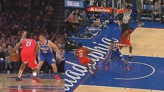 cbf2f2c9498487 James Harden Disrespects McConnell Then Gets Shoved   Does Worst Flop Ever!  Rockets vs Sixers