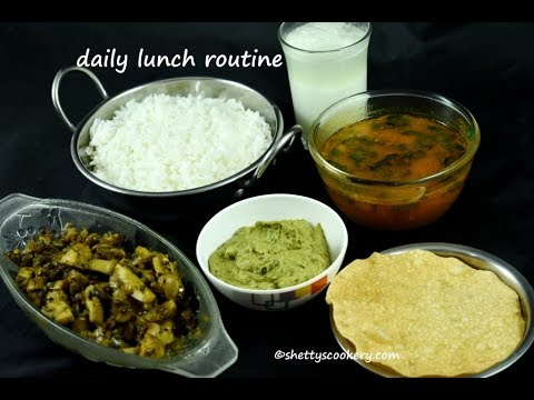 daily lunch routine | simple lunch routine | veg meals recipe | Indian lunch menu ideas