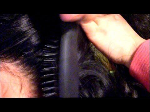 ASMR Tingly Brushing & combing my daughter's hair