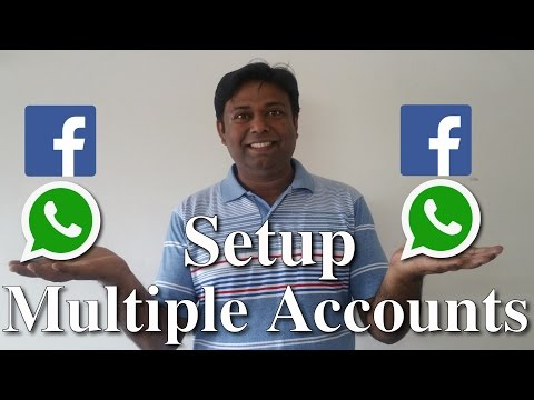 Two WhatsApp and Facebook accounts on Phone.