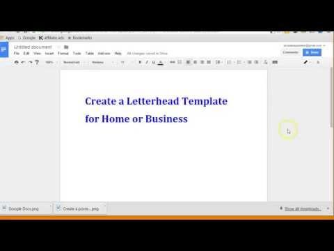 Create letterhead layout with Google docs