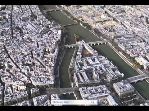 Apple Maps 3D Flyover Tour - Paris