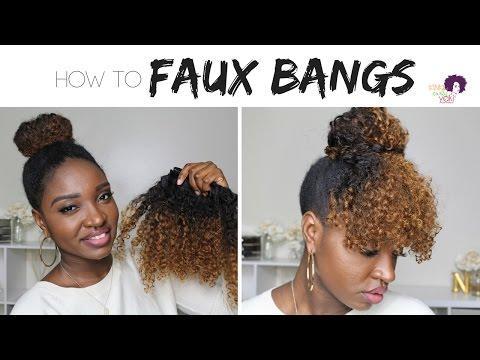 Protective Style: Faux Curly Bangs | KinkyCurlyYaki