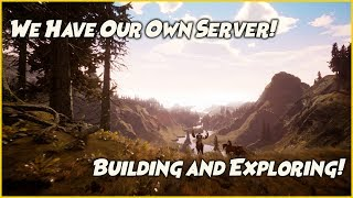 Citadel Forged With Fire Launch Day! - On Our Own Server - Building A Base And Exploring!