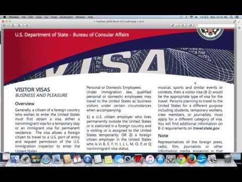 Visitor or Tourist Visa|B1/B2 Visa Application USA