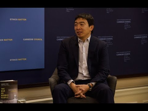 Global Ethics Forum: The Case for Universal Basic Income, with Andrew Yang