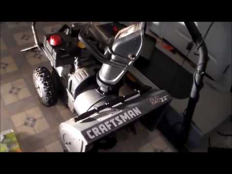 How to fix a Snow Blower found in the trash Craftsman