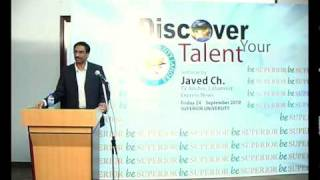 DISCOVER YOUR TALENT - JAVED Chaudhry In Superior University (Part 3 to 8).mp4