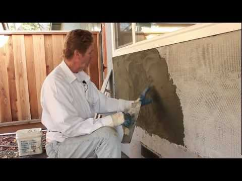 Trowel Stucco to look Like Poured Concrete