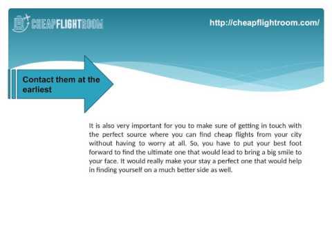 Find Cheap Flight Deals Online In the Best Manner