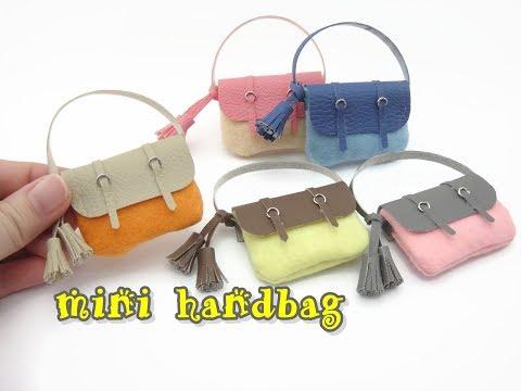 DIY Mini Doll Accessories Hand Bag / Felt Craft - Easy NO SEW