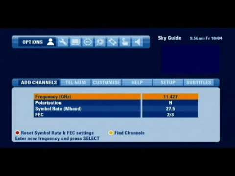 Adding ITV HD on the Sky HD Box manually via 'ADD CHANNELS' use the new settings in the description