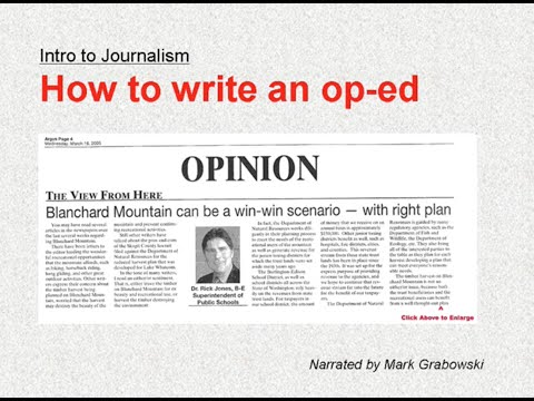 How to write an op-ed