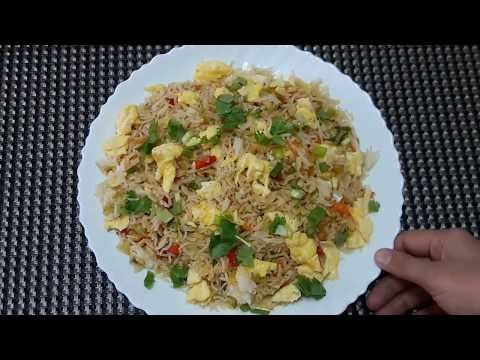 Egg Fried Rice with Microwave Boiled Rice by **kitchen with Fatima**