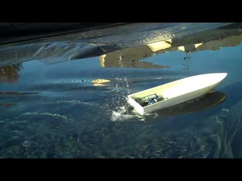 RC JET BOAT KMB Jet Drive with Reverse TEST