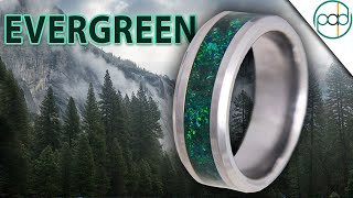 Making the EVERGREEN Glowstone Ring out of Cobalt Chrome, Emerald, Malachite, and Opal