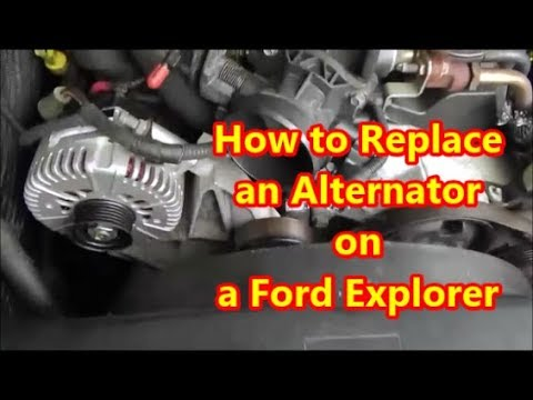 How to Replace an Alternator on a 2002-2011 Ford Explorer