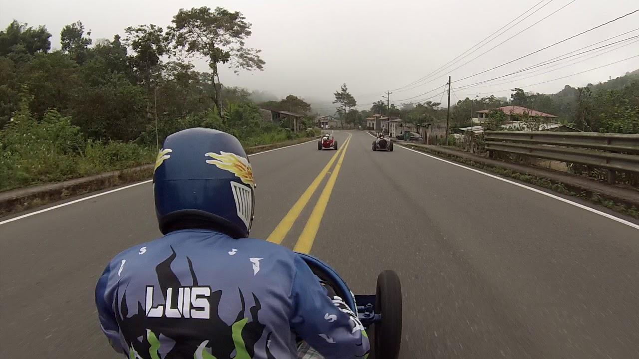 Carrera De Coches De Madera Guayacanes 2019 Categoria Llanta Inflada Camara A Bordo Sr. Luis Chacha