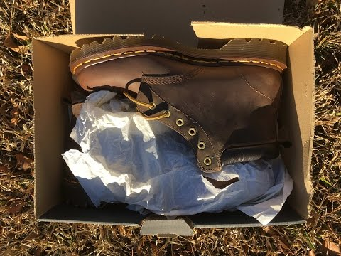 Unboxing and Cleaning Vintage Dr  Martens 939 Aztec England