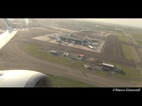 amazing takeoff from Rome Fiumicino rwy 25 - Ryanair B737-800