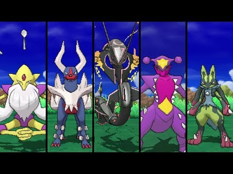 Pokémon Ultra Sun and Ultra Moon - All Shiny Mega Evolutions!