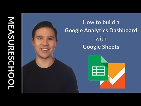 Google Analytics Dashboard with Google Sheets (Reporting API)