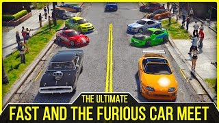 The Ultimate Fast and the Furious Car Meet | GTA V PC Editor