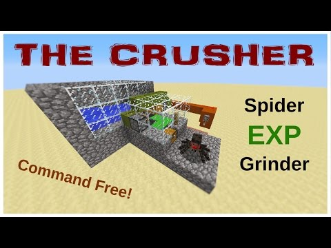 The Crusher: Spider EXP Grinder - Minecraft 1.11