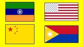 COUNTRY FLAGS with Inverted Colors - Alternate Flags of the World