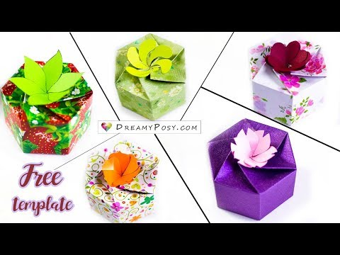 Free template: How to make 5 personalized gift boxes